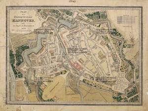 Karte von Hannover 1834