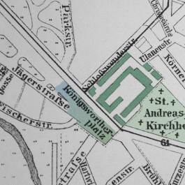 Plan des Platzes um 1896