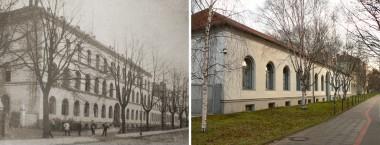 Kriegsschule um 1896 und 2007