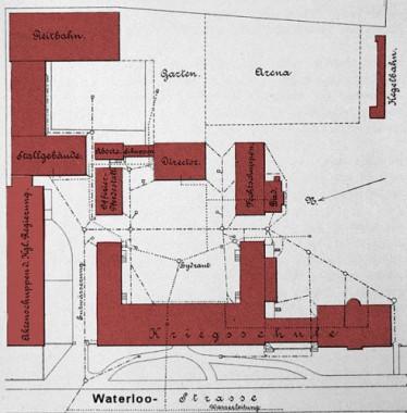 Grundriss der Kriegsschule 1896