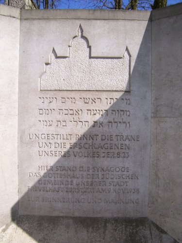 Gedenkstein für die Synagoge