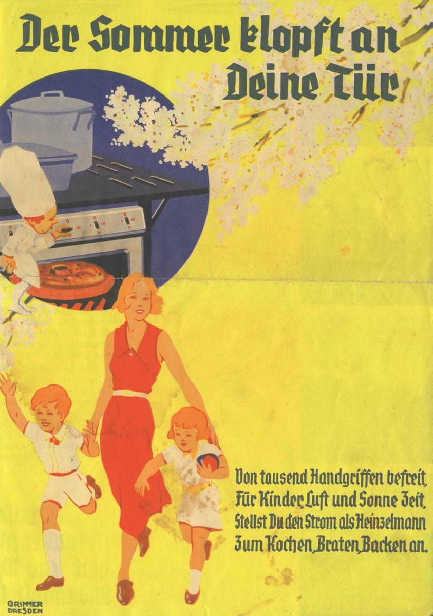 Der Sommer klopft an deine Tür (Faltblatt vor 1933 Elektrogemeinschaft MfE)