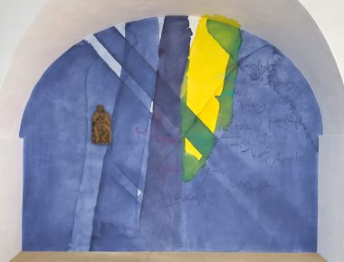 Wandbild in der Krypta der Basilika St. Clemens